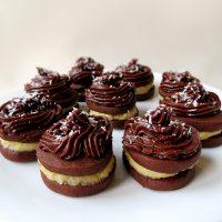 Coconut Cream-Filled Chocolate Cookies   YummyAddiction.com