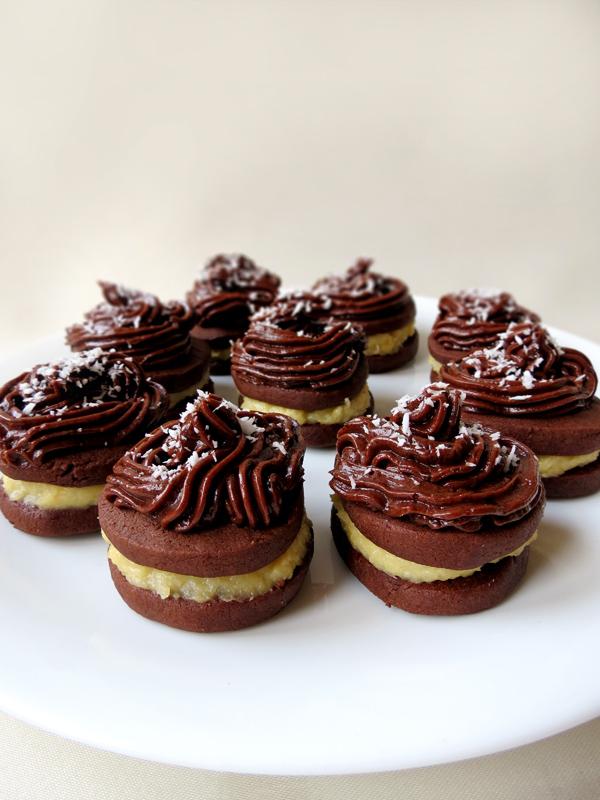 Coconut Cream-Filled Chocolate Cookies | YummyAddiction.com