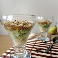 Layered Chicken, Pear and Avocado Salad