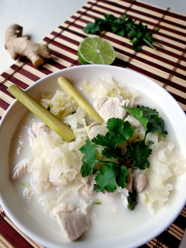 Thai Coconut Chicken Soup | YummyAddiction.com