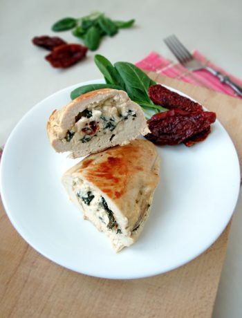 Chicken Breast Stuffed With Feta, Spinach And Sun-Dried Tomatoes