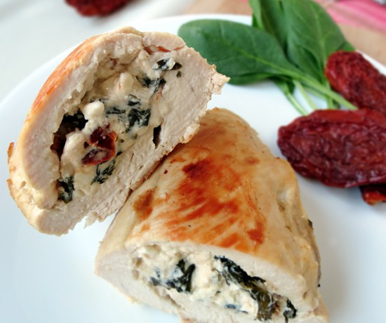 Chicken Breast Stuffed With Feta, Spinach & Sun-Dried Tomatoes
