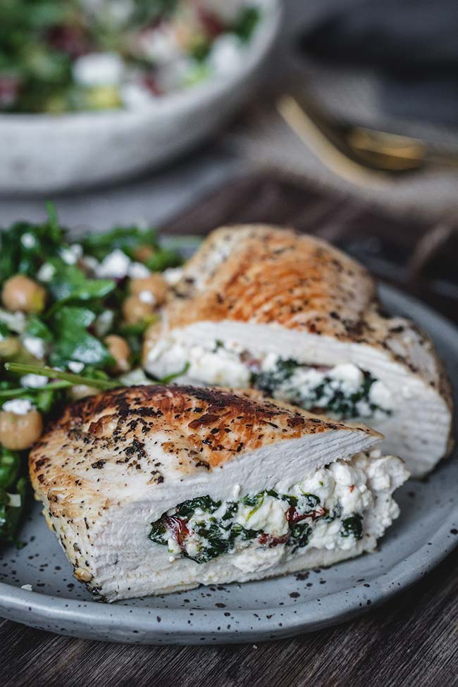Chicken Stuffed With Spinach, Feta And Sun-Dried Tomatoes
