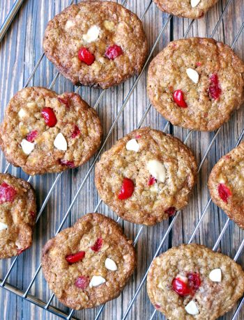 Cherry White Chocolate Oatmeal Cookies