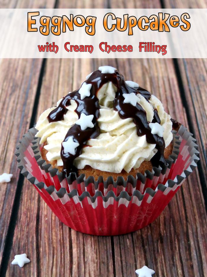 Fluffy Eggnog Cupcakes with Whipped Eggnog Buttercream | YummyAddiction.com
