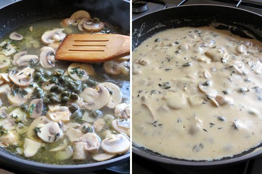 Mushroom, thyme and caper sauce   YummyAddiction.com