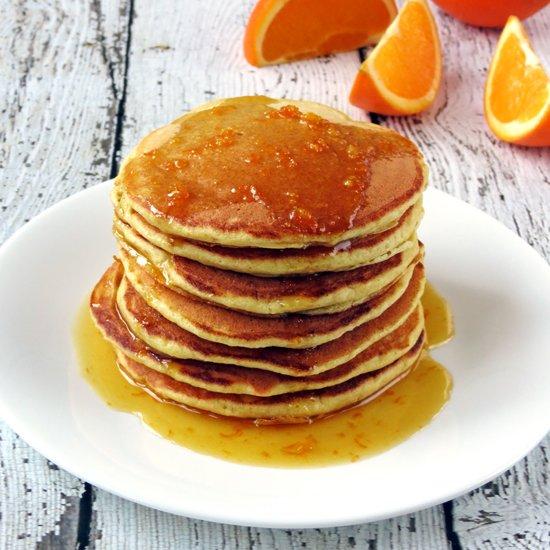 Orange Ricotta Pancakes - Yummy Addiction