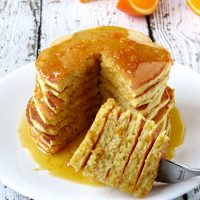 Orange Ricotta Pancakes With Homemade Syrup
