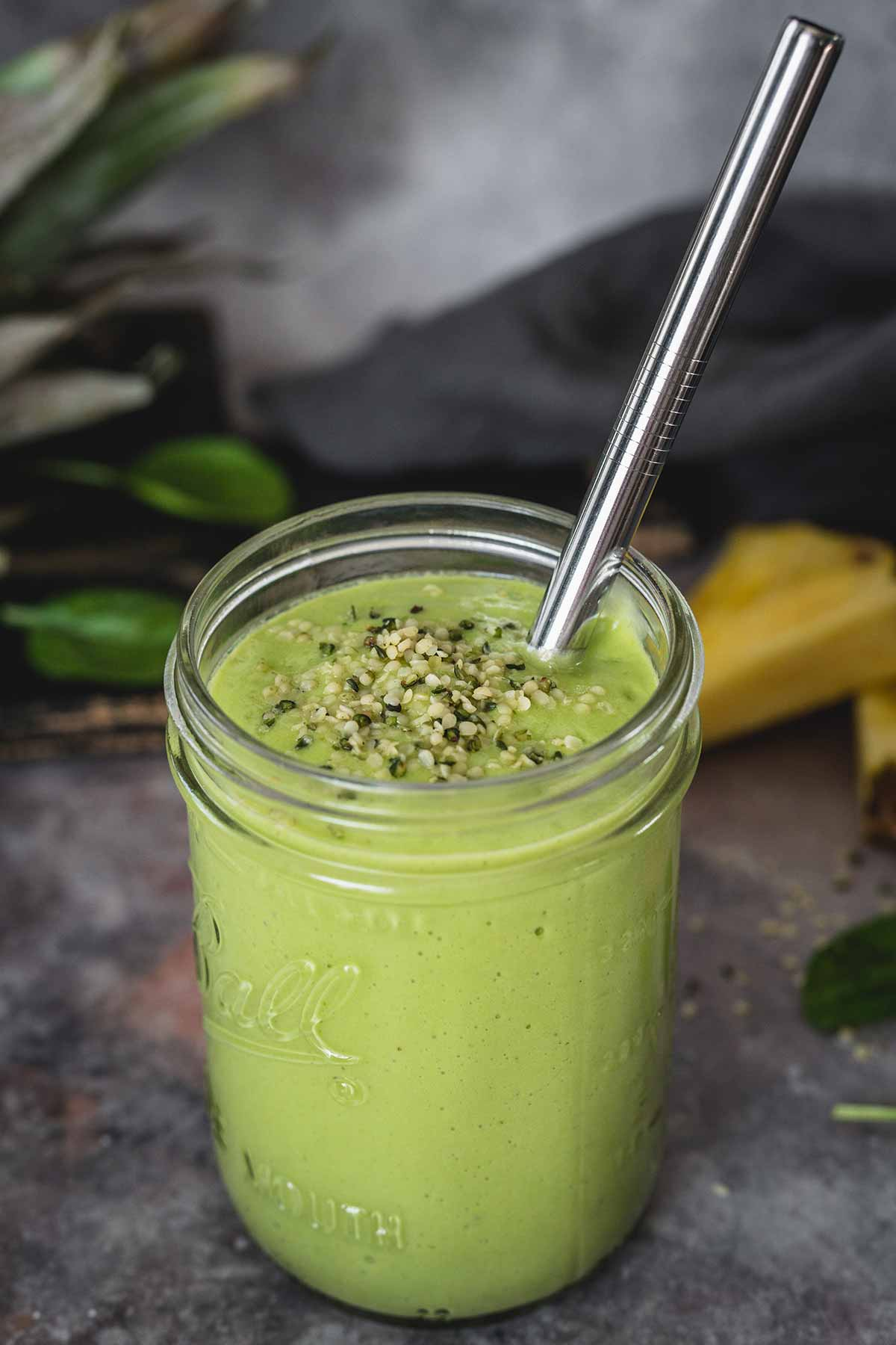 Pineapple, Banana, And Avocado Smoothie