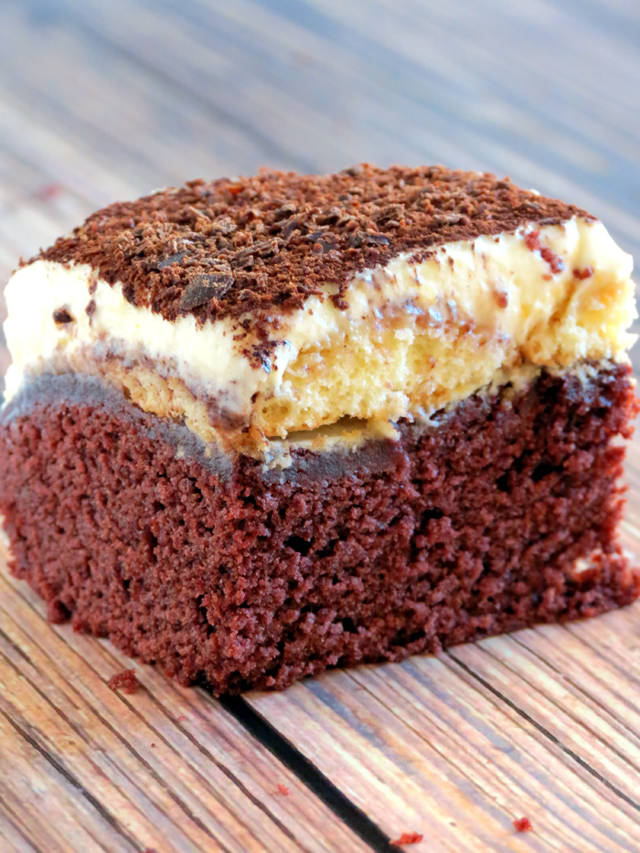 Red Velvet Tiramisu Bar | YummyAddiction.com