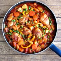 Chicken Afritada With Pineapple