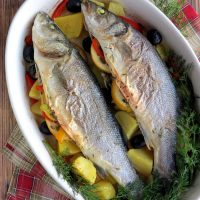 Oven Baked Sea Bass