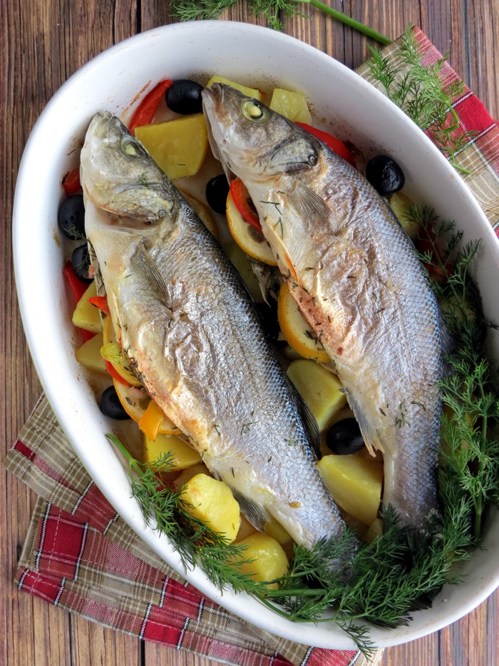 Oven Baked Sea Bass | YummyAddiction.com