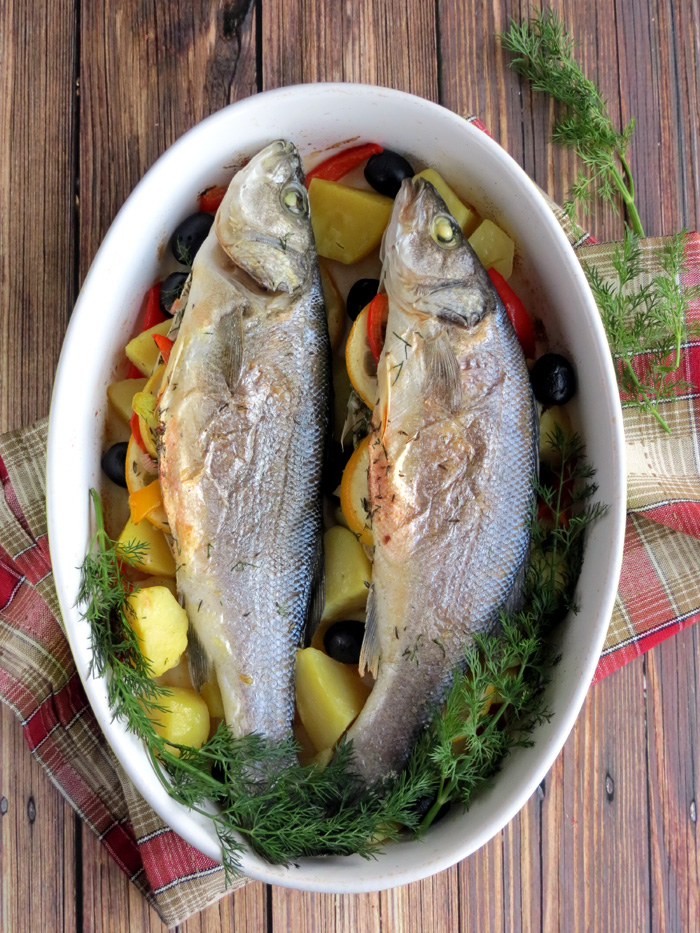 Oven Roasted Sea Bass | YummyAddiction.com