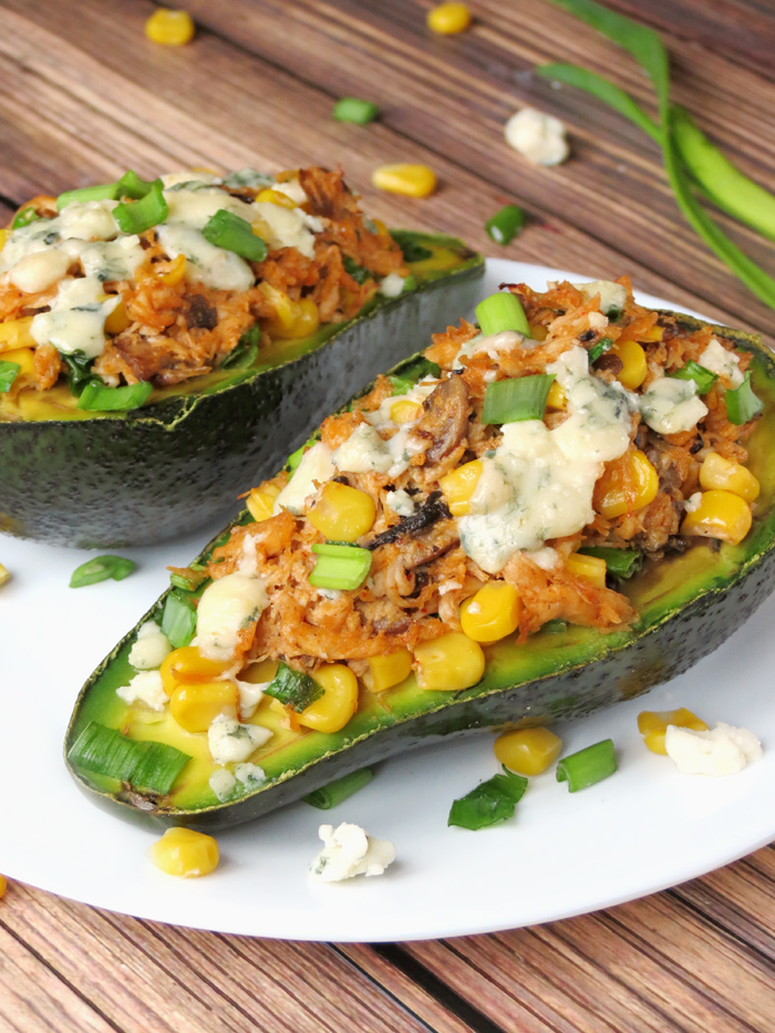 Avocado Stuffed with Chicken | YummyAddiction.com