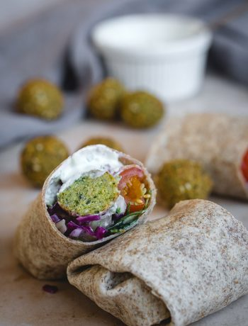Falafel Wrap with Tzatziki Sauce