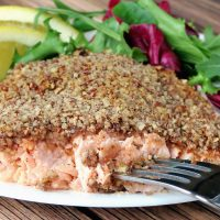 Pecan Crusted Bourbon Salmon