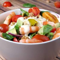 Shrimp Avocado Salad With Yogurt Dressing