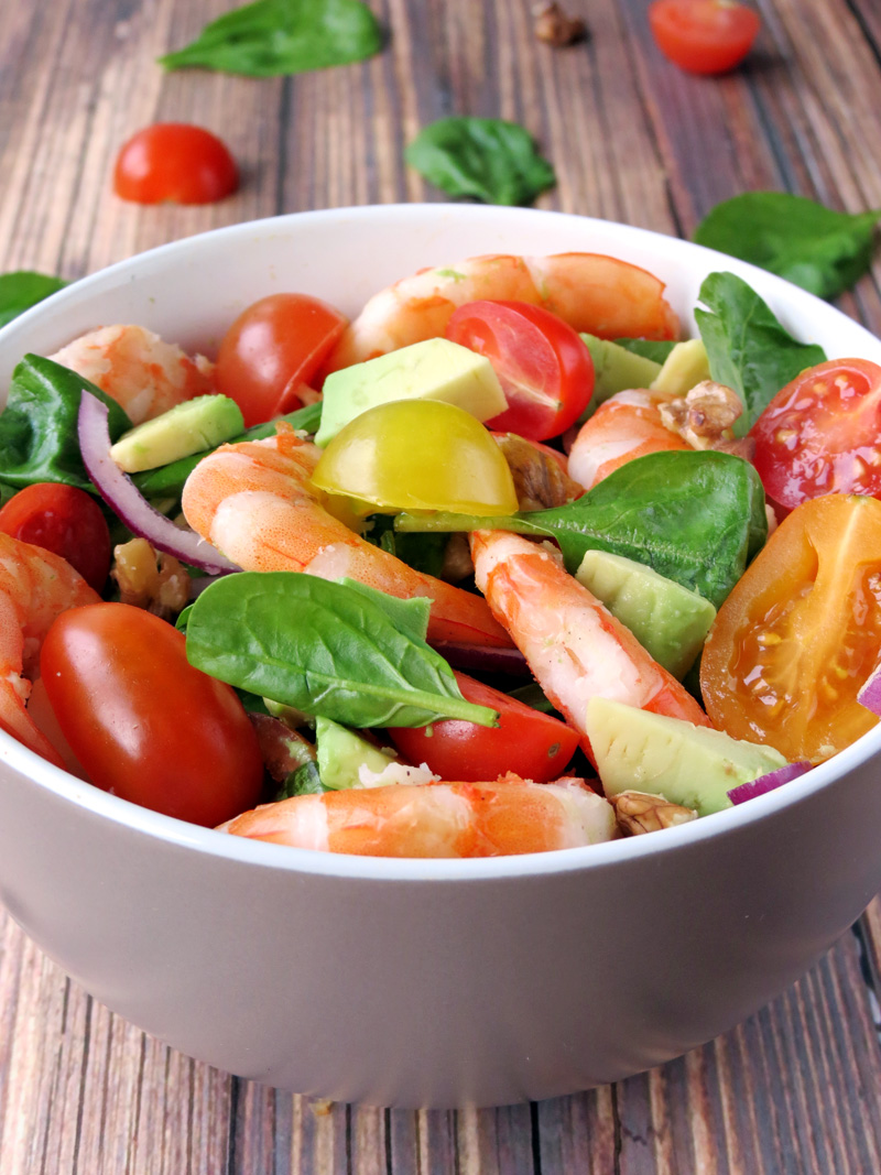 This is one of my favorite salads. Shrimp and avocado – this combo ...
