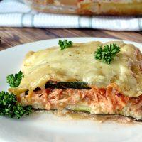 Zucchini and Chicken Alfredo Lasagna