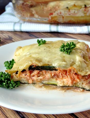 Zucchini and Chicken Alfredo Lasagna