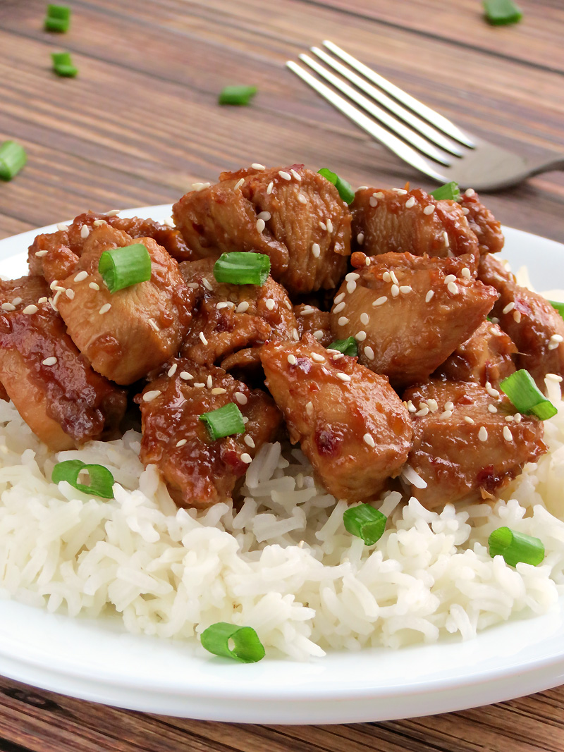 Easy Bourbon Chicken Recipe - Yummy Addiction
