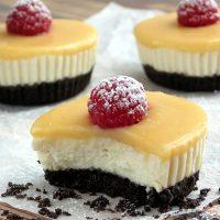 No Bake Lemon Tofu Cheesecake Bites