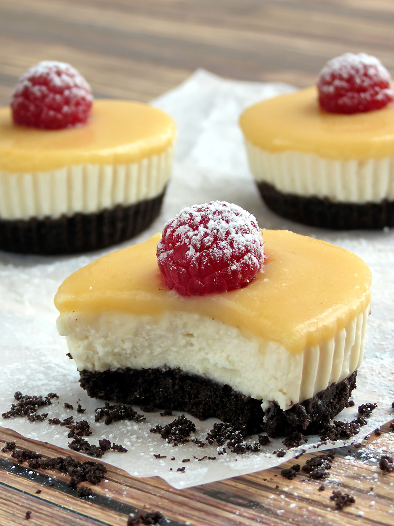 No Bake Lemon Tofu Cheesecake Bites | YummyAddiction.com