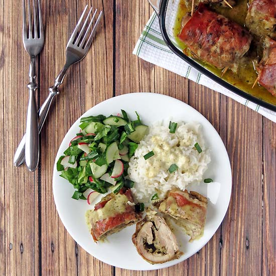 Mozzarella Pesto Stuffed Chicken Thighs