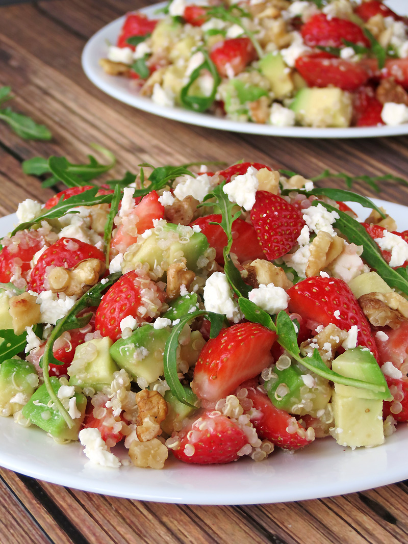 Quinoa Strawberry Avocado Salad - Yummy Addiction