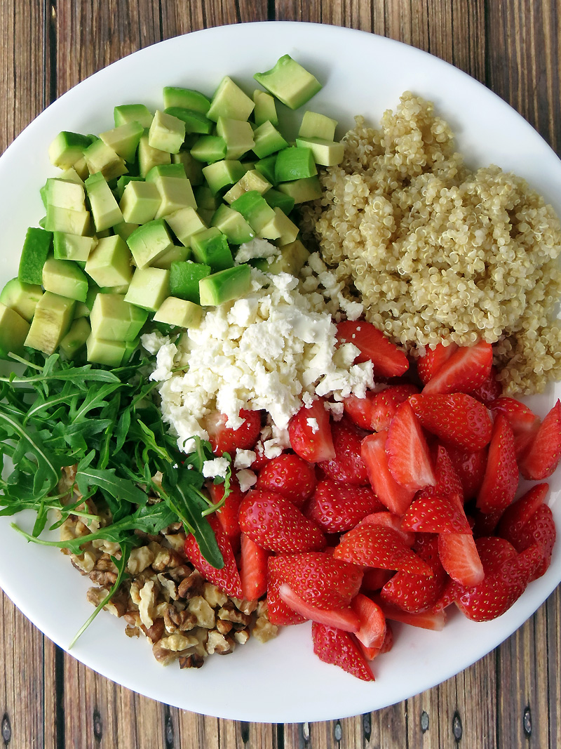Strawberry Avocado Quinoa Salad | YummyAddiction.com