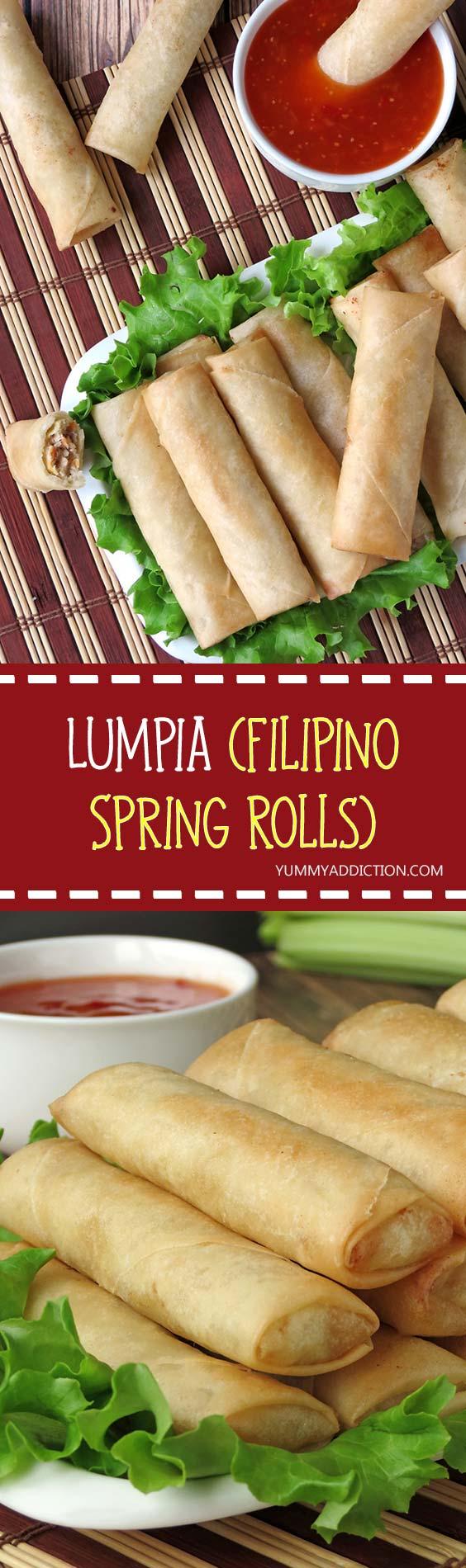 Lumpia (Filipino Spring Rolls) | YummyAddiction.com
