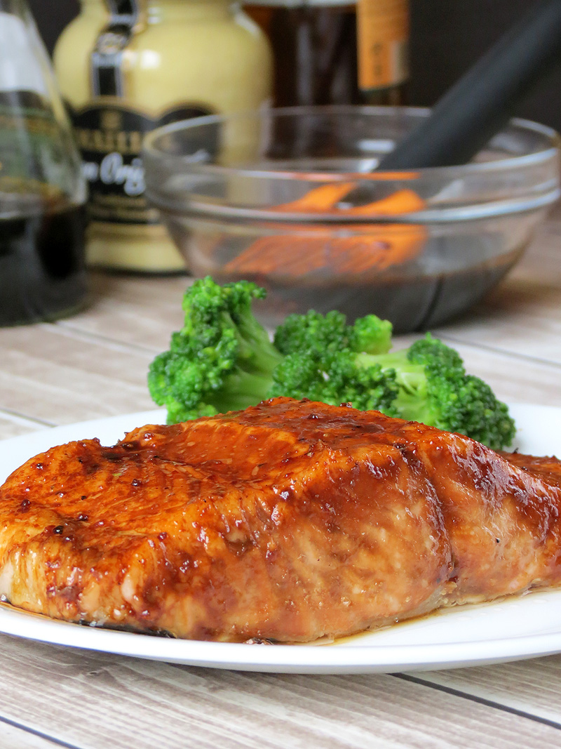 Brown Sugar And Bourbon Glazed Salmon | YummyAddiction.com