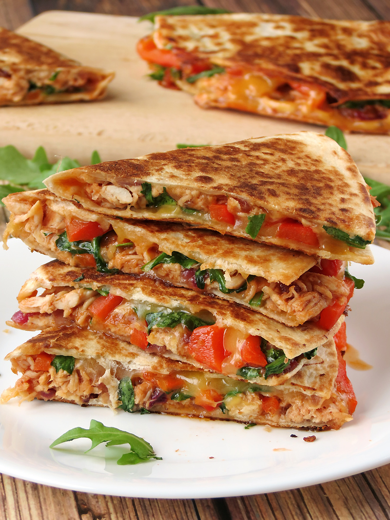 Chicken Quesadillas | YummyAddiction.com