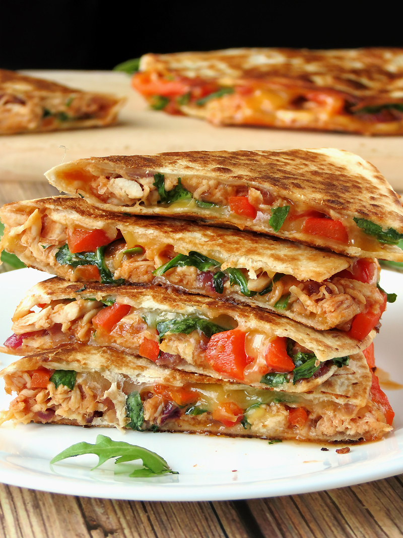 Easy And Delicious Chicken Quesadillas | YummyAddiction.com
