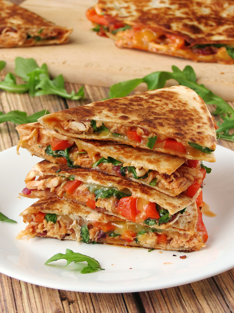Easy Chicken Quesadillas | YummyAddiction.com