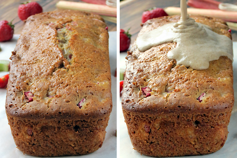 Rhubarb Strawberry Bread | YummyAddiction.com