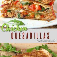 Easy chicken quesadillas pinterest pin