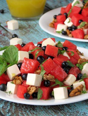Blueberry Watermelon Feta Salad