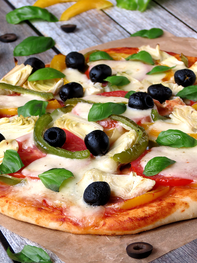 Vegetable Pizza | YummyAddiction.com