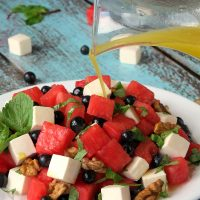 Watermelon Blueberry Feta Salad