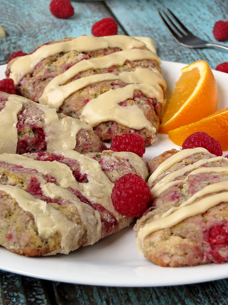 White Chocolate Raspberry Scones | YummyAddiction.com