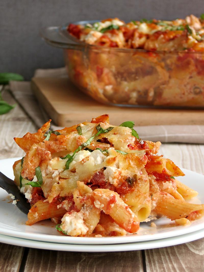 Baked Ziti with Ricotta Cheese | YummyAddiction.com