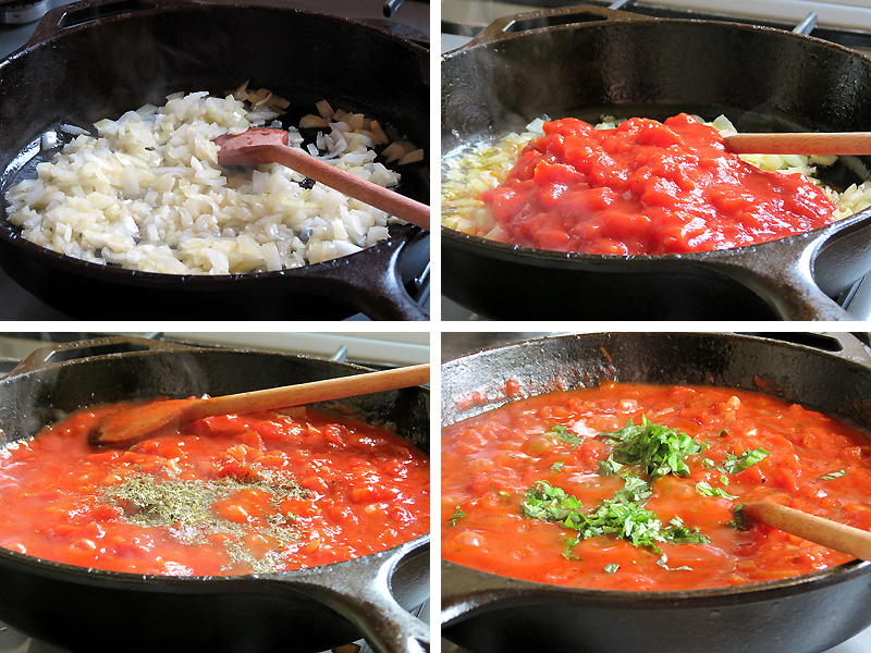 Homemade Tomato Basil Pasta Sauce | YummyAddiction.com