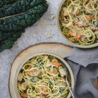 Shrimp Kale Pasta