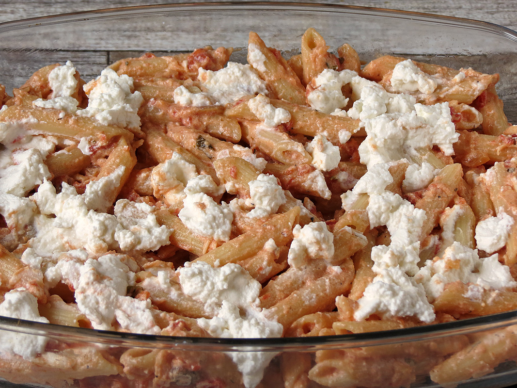 Penne pasta ricotta cheese recipe