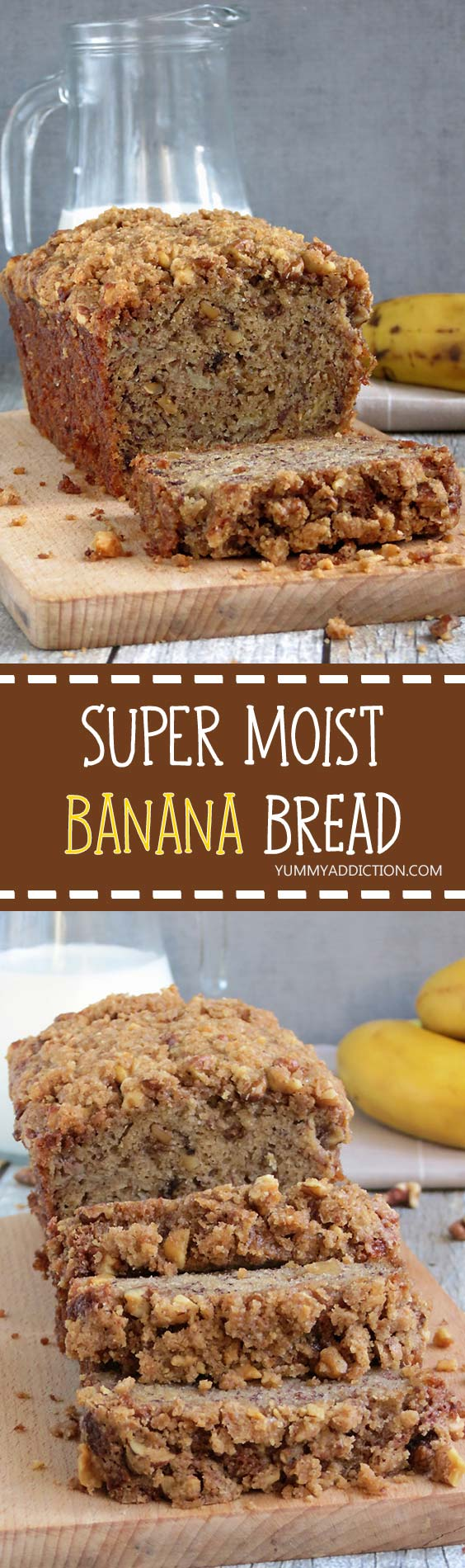 This super moist, fluffy, soft and flavorful banana bread with crunchy ...
