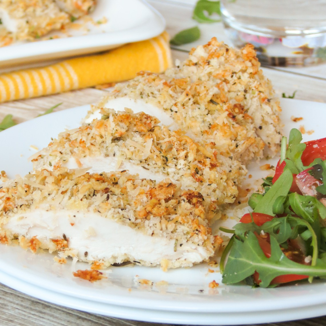 baked parmesan crusted chicken yummy addiction