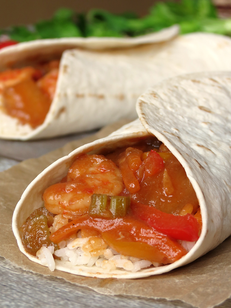 Burritos With Sweet And Sour Shrimp And Coconut Rice | YummyAddiction.com