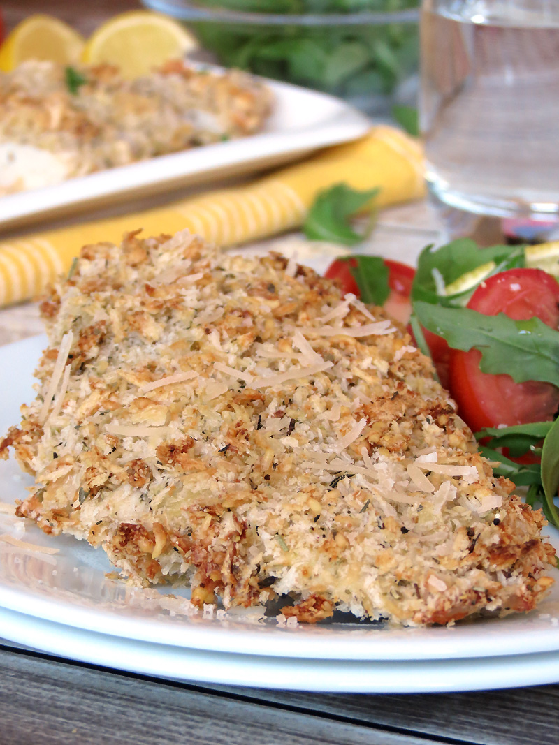 Baked Parmesan Crusted Chicken - Yummy Addiction